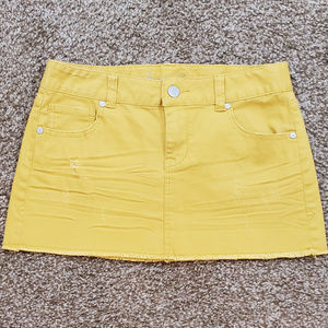 American Rag Cie Mustard Yellow Denim Jean Skirt